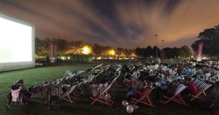 A big screen under the stars; the Villette Outdoor Film Festival
