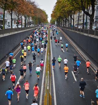 In training! The arrival of the Paris Marathon