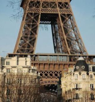 The Eiffel Tower; architectural symbol of Paris