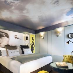 Les Plumes Hôtel Paris - Chambre gris jaune
